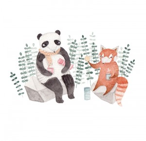 Panda & Red Panda by Julianna Swaney