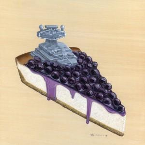 Super Cheesy Blueberry Cheesecake by Roland Tamayo