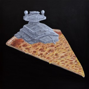 Super Cheesy Star Destroyer Cheese Pizza by Roland Tamayo