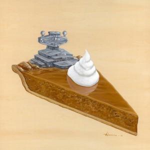 Super Cheesy Star Destroyer Pumpkin Pie by Roland Tamayo