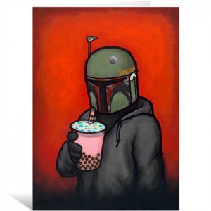 Boba by Luke Chueh Greeting Card