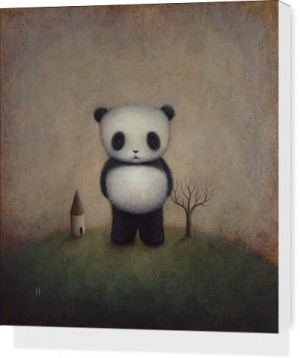 Giant Panda by Paul Barnes Canvas