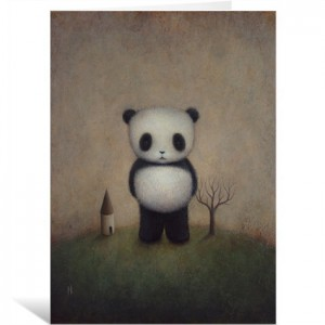 Giant Panda by Paul Barnes Greeting Card