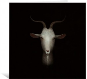 Goat by Paul Barnes Greeting Card