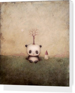 Rise Of The Giant Panda by Paul Barnes Stretched Canvas