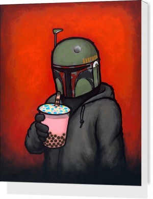 Boba by Luke Chueh Stretched Canvas Print