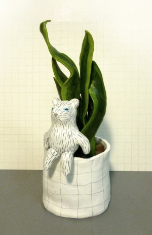 Vase Bear by Liten Kanin