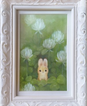 Clover Cuddles by Heather Gross with Frame