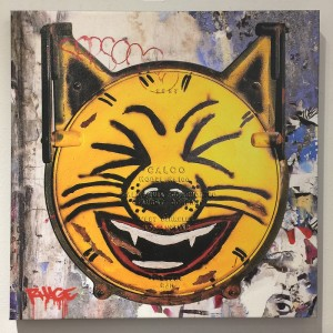 LA River Cat (Yellow) Canvas Print by Randy Hage