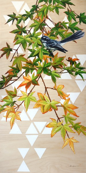 Geo 2: Fantail and Maples by Alex Louisa