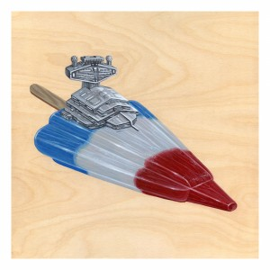 Rocket Popsicle Print by Roland Tamayo