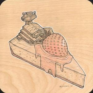Strawberry Cheesecake Study by Roland Tamayo