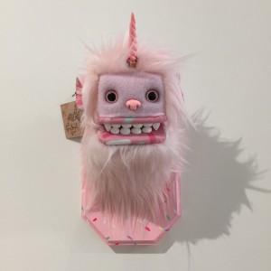 Doughnut Yeti (Small) Pink 2 by Yetis & Friends