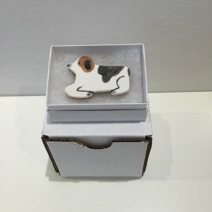 Dog Brooch 1 by Po Yang Leung