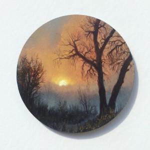 Orange Twilight by Dina Brodsky