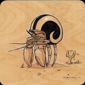 Rams Hermit Study by Roland Tamayo