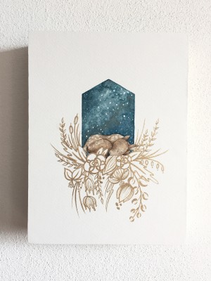 Asleep with the Stars - Deer by Emiko Woods