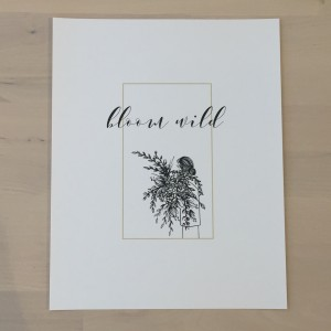Bloom Wild Print by Emiko Woods