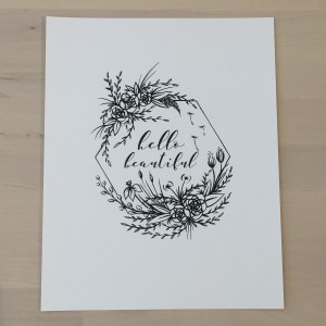 Hello Beautiful Print by Emiko Woods