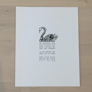 Swan Print by Emiko Woods