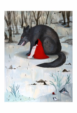 Red Riding Hood Print by Mandy Cao