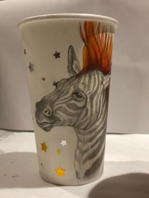 Punk Rock Zebra by Nicole Bruckman