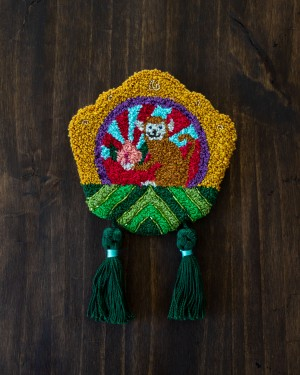 Monkey Mini Tapestry by Po Yan Leung