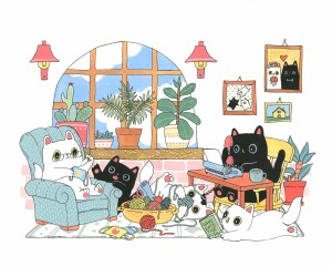 Stay Home Family Moments by Shanghee Shin Print